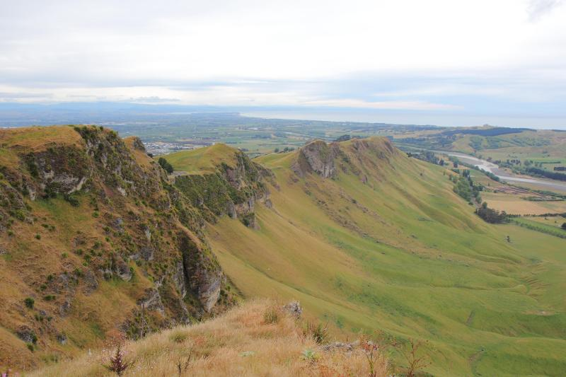 Image #View from the topf of Te Mata  Peak. K.Bland / GNS Science