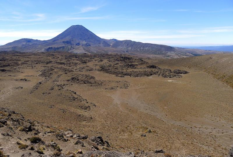 Image #Saddle Cone lava with glacial moraine wall on far right. J.Thomson / GNS