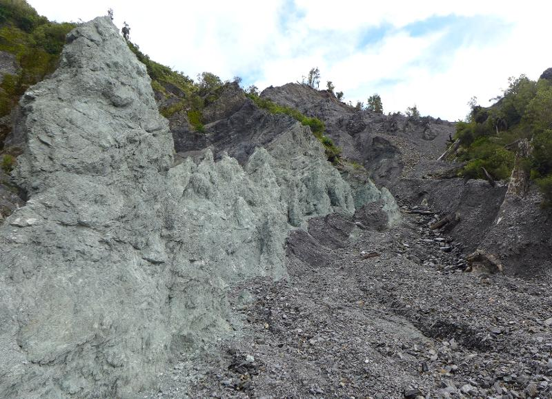 Image #Alpine Fault cataclasite at Gaunt Creek, J.Thomson @ GNS Science